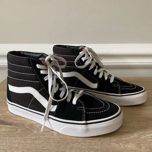 Vans Classic Old Skool Sk8 Black White Hi Sneakers